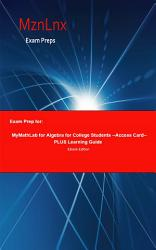Exam Prep for: MyMathLab for Algebra for College Students ...
