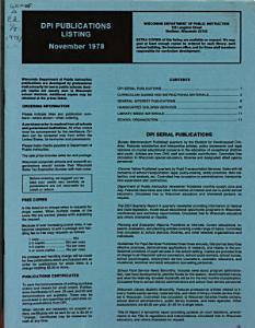 DPI Publications Listing PDF