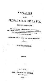 Annales de la propagation de la foi: Volume18