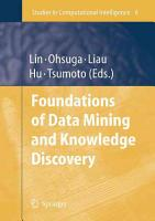 Foundations of Data Mining and Knowledge Discovery PDF