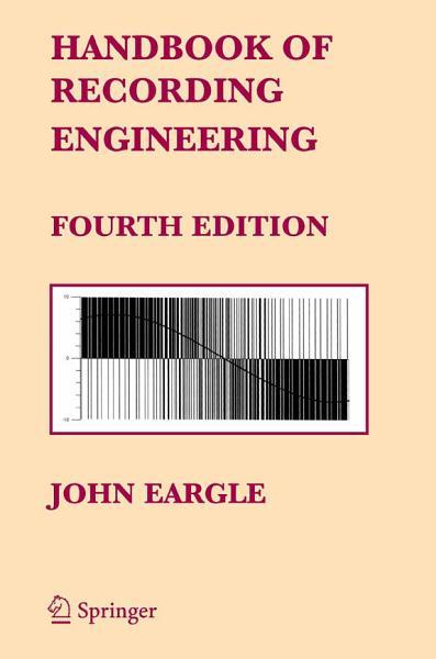 Handbook of Recording Engineering PDF