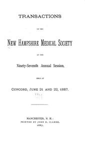 Transactions of the New Hampshire Medical Society ...