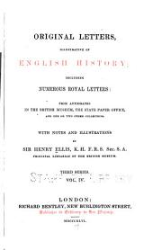 Original Letters, Illustrative of English History: To 1799