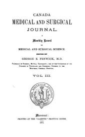 The Montreal Medical Journal: Volume 3