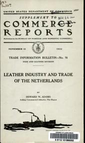 Leather industry and trade of the Netherlands