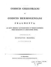 Codicis Gregoriani et Codicis Hermogeniani fragmenta