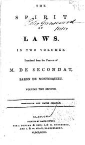 The Spirit of Laws: Volume 2