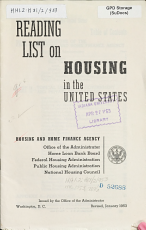 Reading List on Housing in the United States PDF