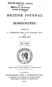 The British Journal of Homoeopathy: Volume 18