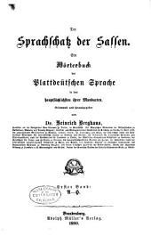Der Sprachschatz der Sassen: Bd. I-N