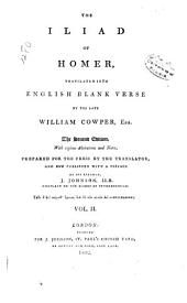 The Iliad of Homer Translated Into English Blank Verse: Volume 2