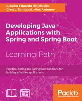 Developing Java Applications with Spring and Spring Boot PDF