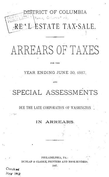 District of Columbia Real Estate Tax sale PDF