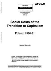 Social Costs of the Transition to Capitalism: Poland, 1990-91, Issue 1165