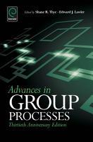 Advances in Group Processes PDF