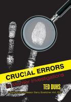 Crucial Errors in Murder Investigations PDF