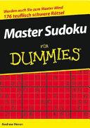 Master Sudoku f  r Dummies PDF
