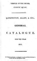 Lackington  Allen    Co s General Catalogue for the Year 1811 PDF