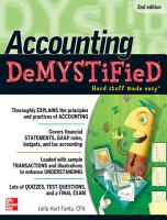 Accounting DeMYSTiFieD  2nd Edition PDF