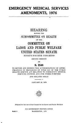 Emergency Medical Services Amendments  1976 PDF