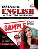 (FREE SAMPLE) Essential General English for Competitive Exams - 2nd Edition SSC-Banking-Rlwys-CLAT-NDA-CDS-Hotel Mgmt.-B.Ed 2nd Edition