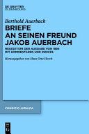 Berthold Auerbach  Briefe an seinen Freund Jakob Auerbach PDF