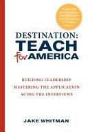Destination Teach for America PDF
