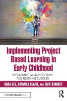 Implementing Project Based Learning in Early Childhood PDF