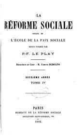 Revue d'ëconomie sociale et rurale: Volume4
