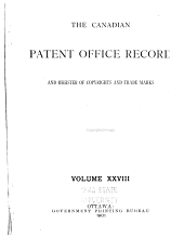 The Canadian Patent Office Record: Volume 28