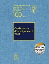 Conférences d'enseignement 2011: Volume100
