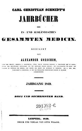 Jahrb  cher der in  und ausl  ndischen gesammten Medizin PDF