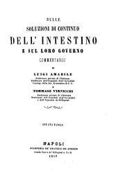 Sulle soluzioni di continuo dell'intestino e sul loro governo commentario di Luigi Amabile e Tommaso Virnicchi