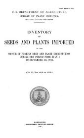 Seeds and Plants Imported During the Period ...: Inventory ..., Volumes 52-62