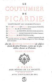 Le Coutumier de Picardie: Volume2