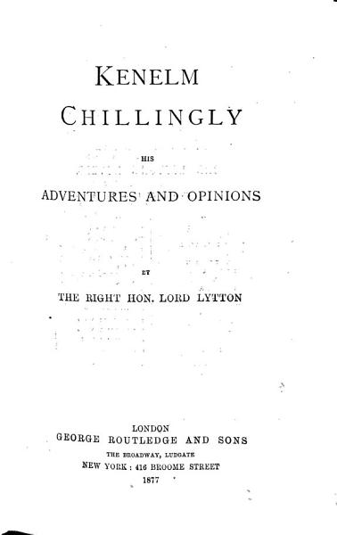 Download Kenelm Chillingly  1877 Book