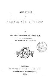 Analysis of 'Essays and reviews'.