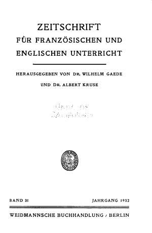 Zeitschrift f  r neusprachlichen Unterricht PDF