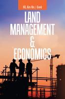 Land Management   Economics PDF