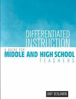 Differentiated Instruction PDF