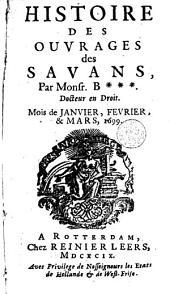 Histoire des ouvrages des sçavans: Volume15