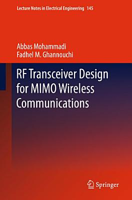 RF Transceiver Design for MIMO Wireless Communications PDF