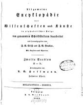 Allgemeine Encyklopädie der Wissenschaften und Künste: in alphabetischer Folge. ¬Section ¬2, H - N ; Theil 10, Holacanthus - Hormuz. 2,10