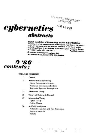 Cybernetics Abstracts PDF