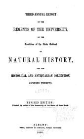 Annual Report of the Regents of the University on the Condition of the State Cabinet of Natural History, with Catalogues of the Same: Volume 3