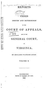 Cases Decided in the Supreme Court of Appeals of Virginia: Volume 37