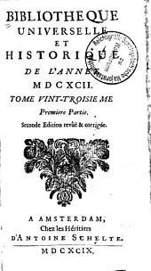 Bibliothèque universelle et historique: Volume23