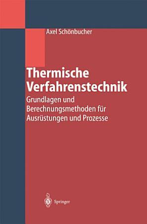 Thermische Verfahrenstechnik PDF