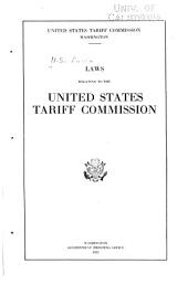 Laws Relating to the United States Tariff Commission