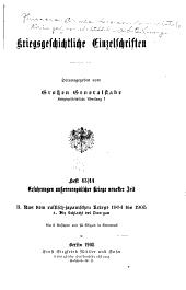 Kriegsgeschichtliche Einzelschriften: Heft 1-, Ausgaben 43-44